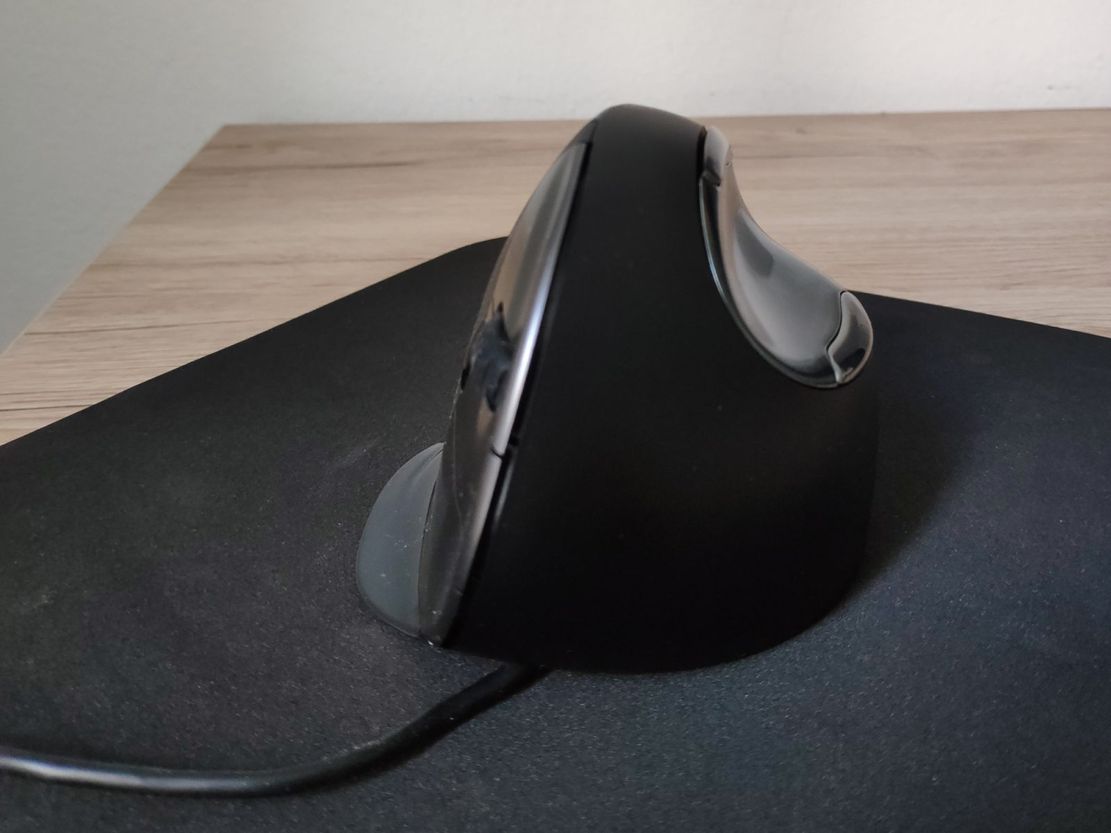 Evoluent Vertical Mouse D Test beim Arbeiten 2