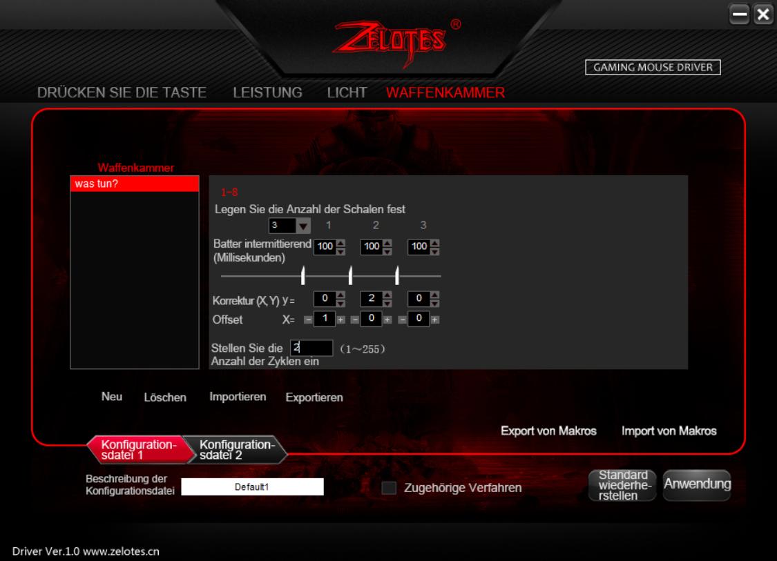 Test der Software: Zelotes Waffenkammer